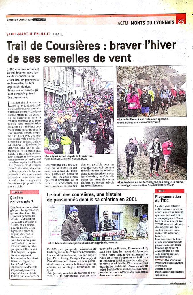 Article Trail des Coursières 2019