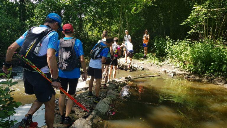 Team Trail des Coursières traverse la Coise