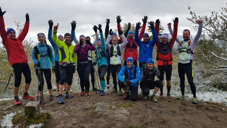 Team Trail des Coursières sous la neige