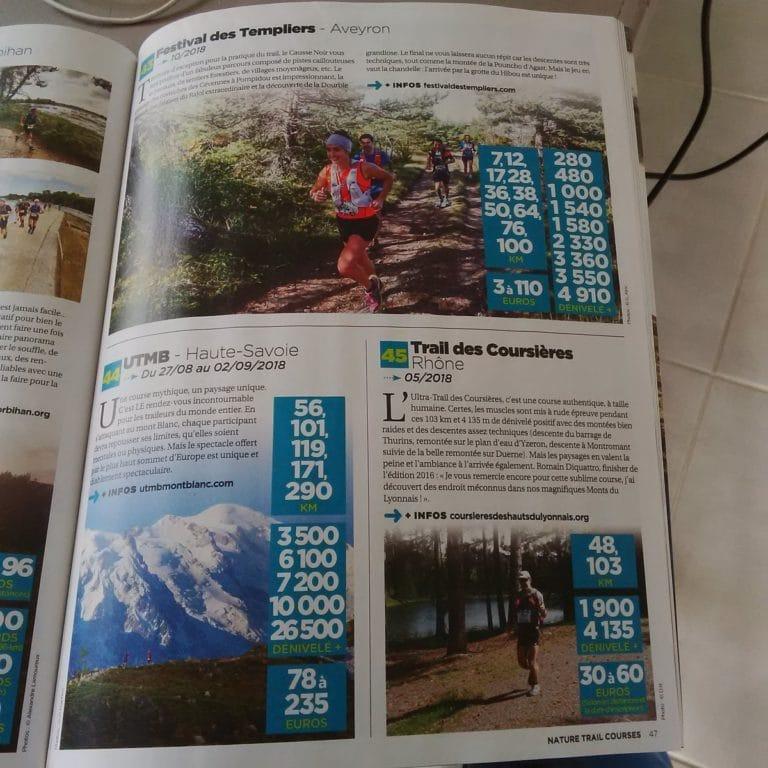 Article Trail des Coursières parmi 100 Trails de rêve