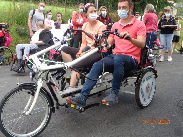 Tandem tricycle cofinancé par le Trail des Coursières
